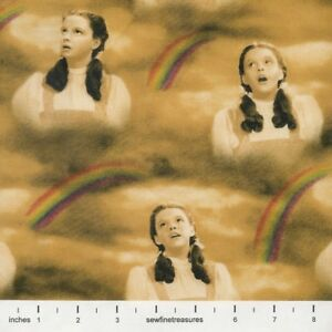 WIZARD-of-OZ-Under-the-Rainbow-DOROTHY-SING-Sepia-OOP-Fabric-By-the-FQ-1-4-YD