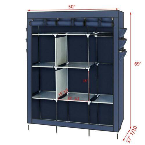 """69/"""" Multi-colored Closet Organizer Clothes Shelves Shoe Rack Home Holder Storage"""