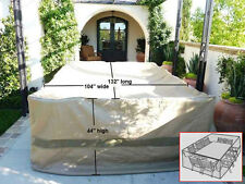 """Patio Garden Outdoor Yard Rectangular Table Chairs Furniture Set  Cover 132""""L"""