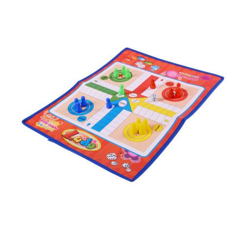 Non-woven Fabrics Foldable Ludo Snake Chess Board Game Family Game BH SE