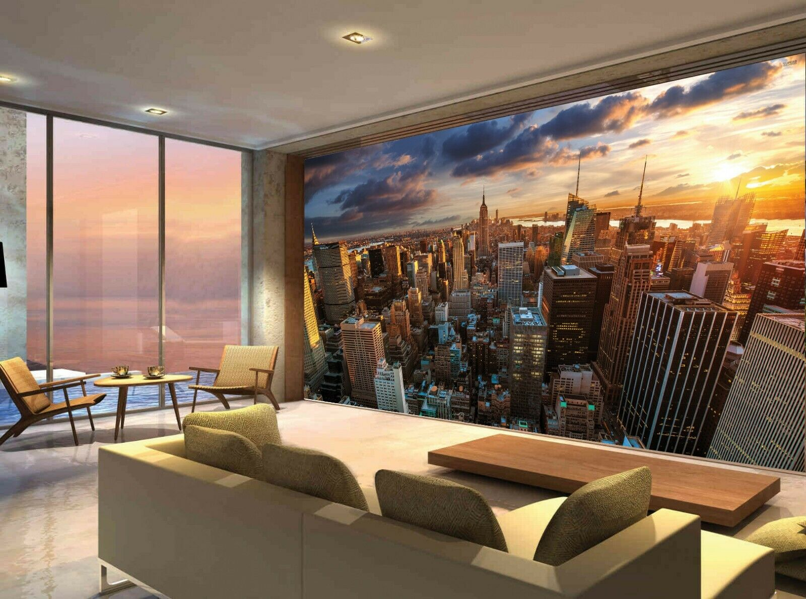 New York City Building Skyline Manhattan Photo Wallpaper