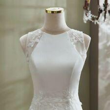 Mermaid elegant Lace bohemian wedding dress Simple modest beach bridal gown
