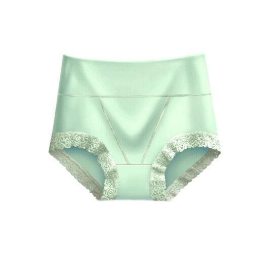UK STOCK Women Panties Briefs High Waist Cotton Lace Knickers Lingerie Underwear