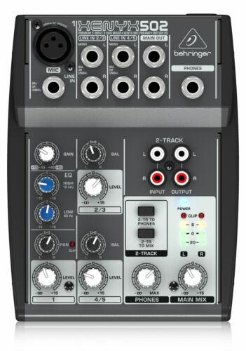 Behringer Xenyx 502 Mixer Analog 5-Kanal Mischpult XENYX Live Recording Studio