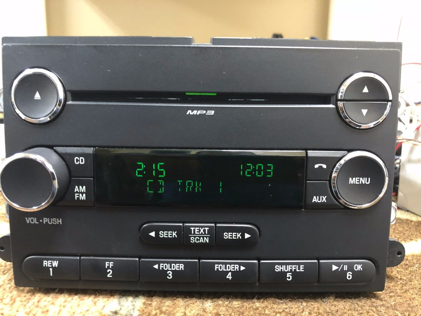 12 14 Ford Expedition Radio Single Disc Cd Player Mp3 Satellite Cl1t Changer Pinout Plays Burnt Cds And Mp3s Ready Requires Receiver Antenna Needs To Have Can Bus System Work
