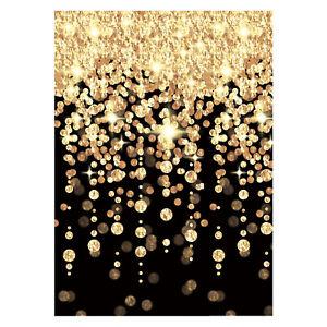 Noir-amp-Dore-en-Cascade-Lumieres-Fete-Mur-Chambre-Decoration-Vip-Hollywood