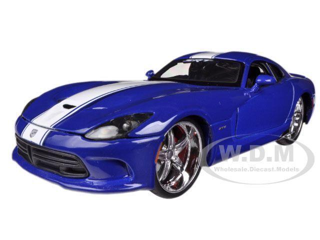 Maisto All Stars 1 24 Scale 2013 Srt Viper Gts Blue Ebay