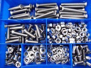 330-Teile-Senkkopf-Kreuz-Schrauben-Sortiment-DIN-965-M4-M5-M6