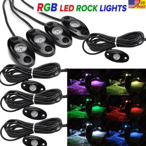 "32/"" 42/"" 52/"" RGB CREE LED Light Bar Color Change Flashing Offroad UTV ATV SUV"