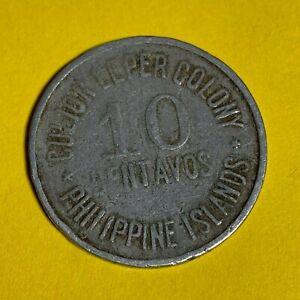 PHILIPPINES CULION LEPER COIN 1920 TEN CENTAVOS KM-9 #108