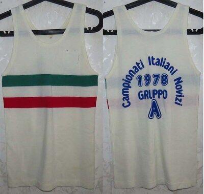 10036 TG S ASICS ITALIA BOXE PUGILATO FPI T-SHIRT MAGLIA MAGLIETTA COTTON TEE