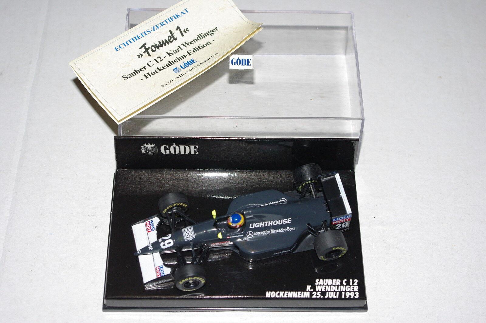 Minichamps F1 1 1 1 43 SAUBER C12 Karl WENDLINGER HOCKENHEIM 1993 GODE EDITION 066