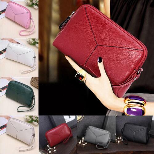 Women Lady/'s Leather Clutch Handbag Wallet Long Card Holder Phone Bag Case Purse