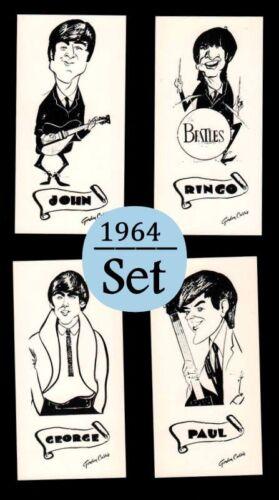 L37 1964 The Beatles Vintage Mathews Rotary Press Gordon Currie Art Card Set 4