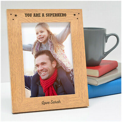 PERSONALISED Daddy You Are A Superhero Photo Frame Birthday Gifts for Dad Daddy