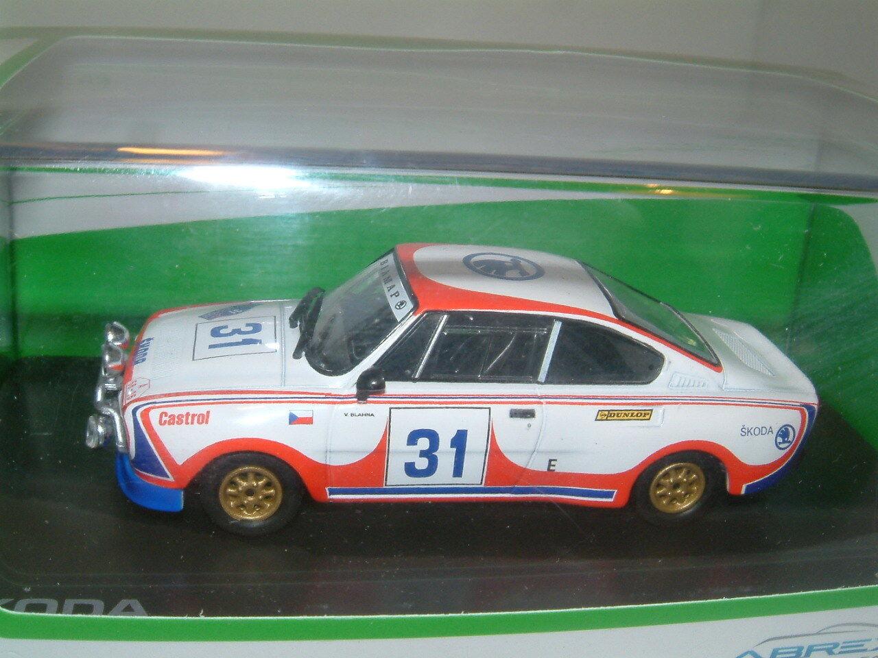 1 43 SKODA 130 RS 1979 ACROPOLIS RALLY ,BLAHNA, ABREX