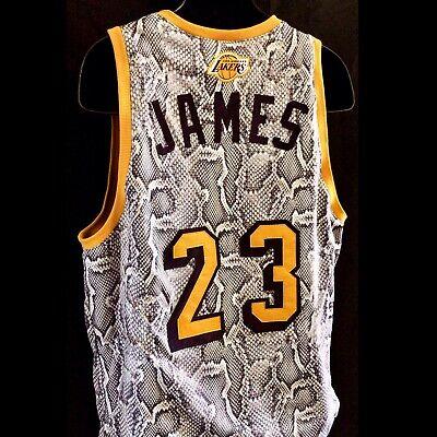 Los Angeles Lakers Lebron James Snakeskin Print Fabric NBA Basketball Jersey NCA | eBay