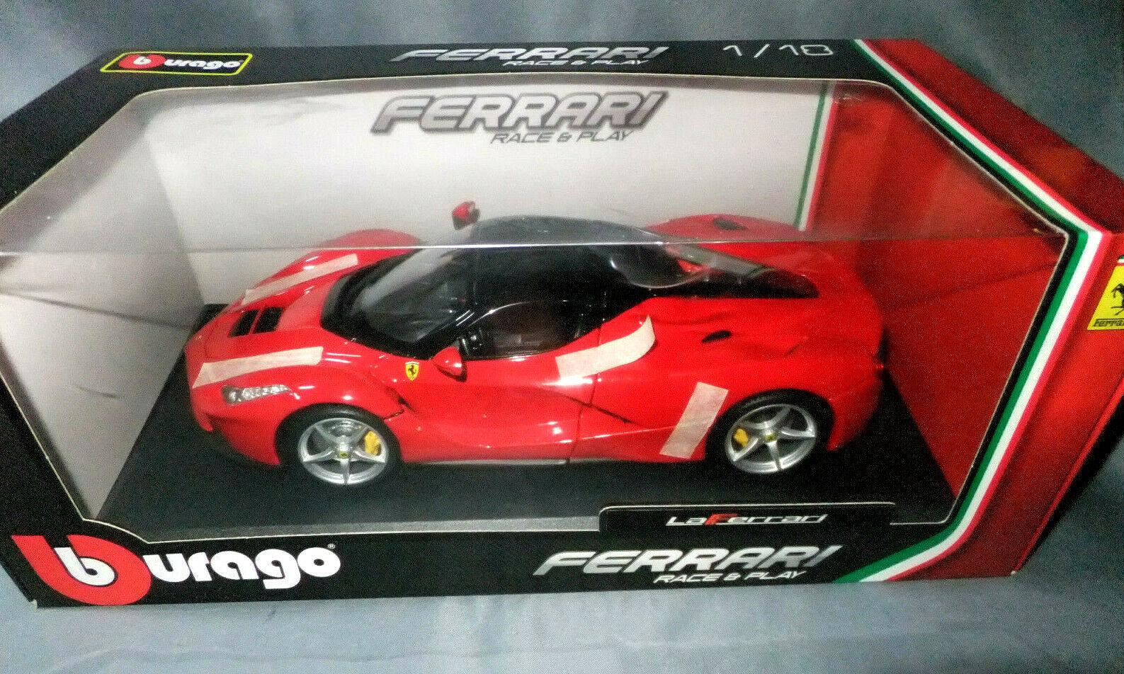 BURAGO SCALA 1 18 Ferrari LaFerrari Rosso Nero Top Nuovo in Scatola