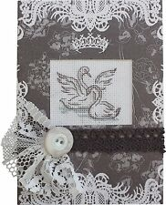 Swan Pair Cross Stitch Card Kit By Luca-S