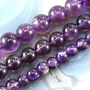 Natural-Gemstones-Purple-Amethyst-Round-Spacer-Beads-15-034-4mm-6mm-8mm-10mm-12mm