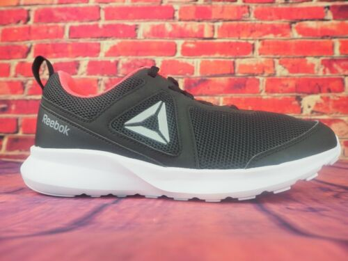 Womens Reebok Quick Motion DV3922 Black Coral Lace Up Running Shoes Trainers