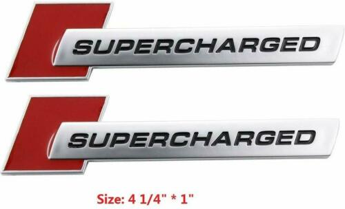 2x 3D NEW Supercharged Badge Emblem Stickers for A3 A4 A5 A6 Q3 Q5 Q7 S4 S6 TT