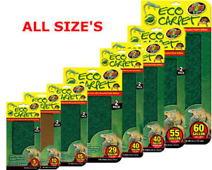 Zoo Med Eco Cage Carpet Vivarium Substrate For Bearded