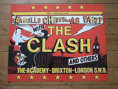 THE CLASH - 1984 - BRIXTON ACADEMY - SCARGILLS XMAS PARTY - POSTER - PUNK