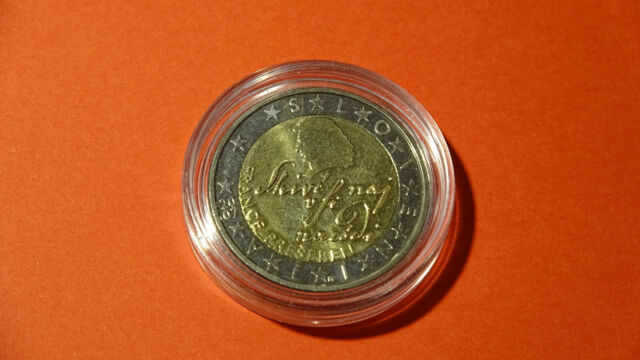 Slovénie 2 Euro Pièce Commémorative 2007 Poète France Prešeren De
