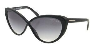 Tom Ford MADISON Sunglasses Shiny Black Gradient Gray FT253 01B 63-10 135