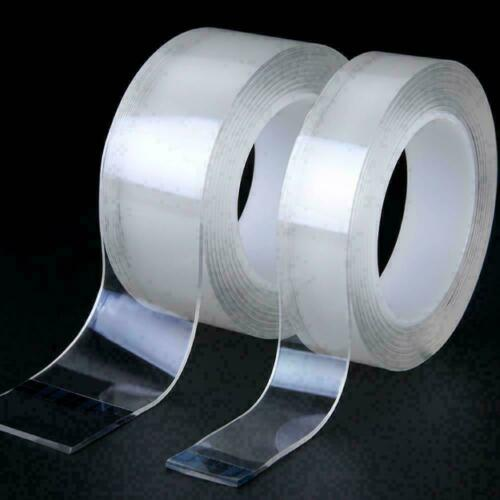 Reusable Magic Nano Tape Double Sided Traceless Adhesive Clear Tape Removable Sl