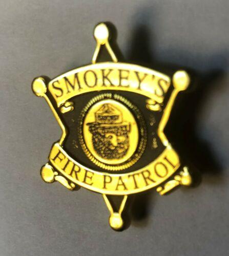 "Forest Service Lapel Pin Button Classic Smokey the Bear /""FIRE PATROL/"" Badge U.S"