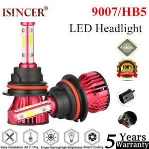 2PCS-4-Side-9007-LED-Headlight-Kits1820W-270000LM-Bulbs-High-Power-6000K-Canbus
