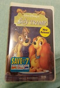 Walt Disney S Lady And The Tramp Masterpiece Collection Vhs Movie Sealed Vintage 786936078541 Ebay