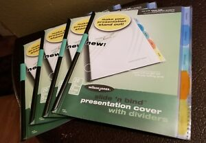 Details about Slide N Bind Presentation Cover W/ Divider Tabs Wilson Jones  Report Set Of 4