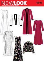 NEW Look Sewing Pattern MISSES'S Abito Lungo o Corto Giacca Taglia 10 - 22 6305 un