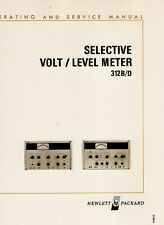 Hewlett Packard 312 Bd Selective Volt Level Meter Operating Ampservice Manual