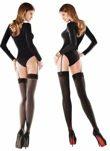 7cc6ef11171b0 Women's Sensual Back Seam Opaque Stockings, Gabriella Cruze | eBay