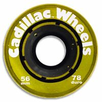 Cadillac Skateboard Wheels 56mm 78a Trans Yellow on sale