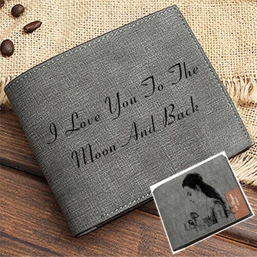 Custom Men Wallet Birthday Present Gift Personalized Photo Wallet Mother/'s Day