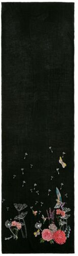 Buf Women's botanic Size 2000 Scarf Desigual Black negro One fRwnqnp5H