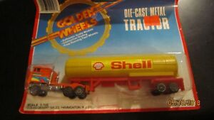 Golden-Wheel-SHELL-TRACTOR-TRAILER-DIECAST-METAL-TRUCK-1-100-Scale