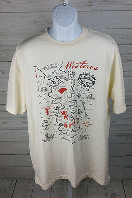 Game Of Thrones MAP OF WESTEROS T-Shirt Licensed & Official Beige Size Game Of Thrones Map T Shirt on game of thrones pokemon shirt, game of thrones stark shirt, game of thrones school shirt, united states map shirt, africa map shirt, game of thrones beer bottles, fargo map shirt, game of thrones table book, westeros map shirt,