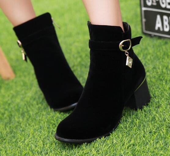Stiefel Stilett Schuhe Absatz 6 Schwarz Komfortabel Leder Kunststoff 8732