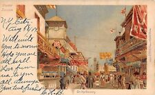 1904 Stores Stands on Bowery Coney Island NY post card Brooklyn Tuck Robinson