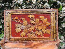 264. Antique Carved Godel Gilt Wood Panel  w/ Flower