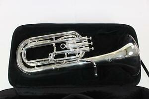 Besson-Model-1057-2-0-Performance-Bb-Baritone-Horn-in-Silver-Plate-DISPLAY-MODEL