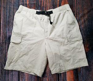 Timberland-XXL-Lightweight-Cargo-Belted-Hiking-Beige-Size-XL-34-38-Mesh-Shorts