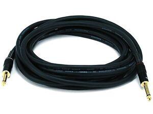 """35' Premium (1/4"""") 6.35mm Male to Male Mono Speaker Amplifier Audio Cable"""