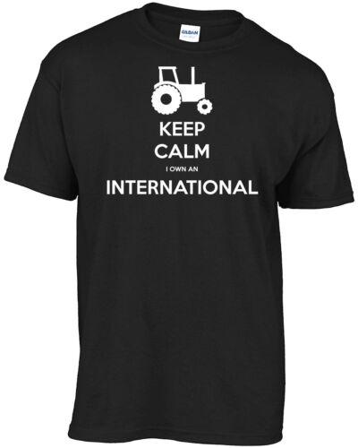 Tractor Keep Calm I Own An International t-shirt